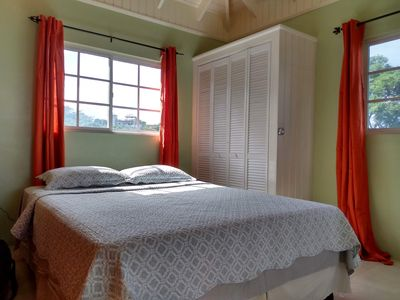 Bedroom: Comfy queen sized bed, light and airy loft, sound of birds.