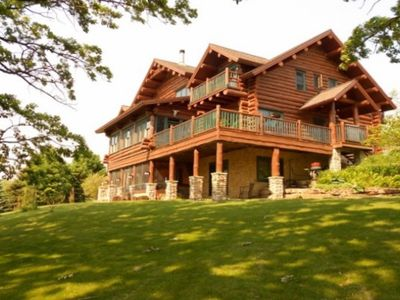 Rustic Luxury Awaits In This Beautiful Full Log Lodge On 44 Private Acres