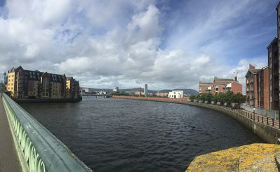 Lagan River  and Cave Hill view from Albert Bridge