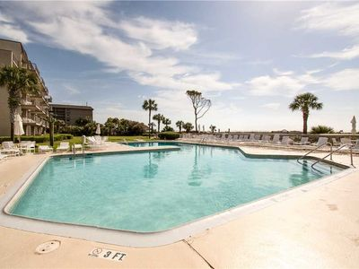 Photo for 424 Ocean One | Beautifully Decorated | Oceanfront Complex Pool & Sun Deck |  Forest Beach Area