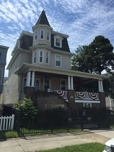 Photo for Large Wesley Ave Victorian  with Guest Cottage close to beach, boards and tow