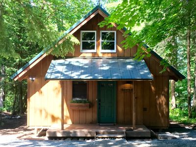Photo for Cozy Riverfront Cabin close to Crystal Mountain Resort