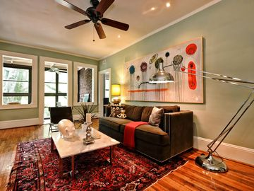 Charlotte Furnished Apartment in Myers Park-deck and sunporch