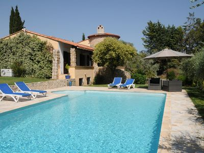 Photo for High standard villa, spacious, private salt water pool, large garden
