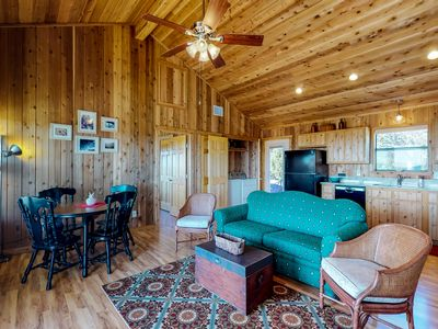 Photo for New and secluded cedar cabin  just 10 miles from the heart of Blanco!