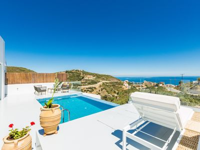 Photo for Panoramic sea views, very close to the beach & amenities, totally private!