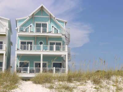 Photo for NEWLY Constructed Home Ready to Rent! Beachfront, Outdoor Pool, Theater Room