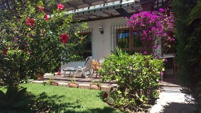Very pretty, spacious and private two bedroom, two bathroom villa close to beach