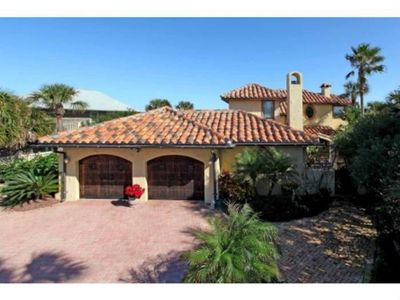Photo for Ocean views and beachfront -Mediterranean Style Home- comfortably sleeps 8