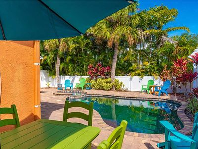 Reduced Rates!  Ground level home, private pool & attached Mother in law Suite.