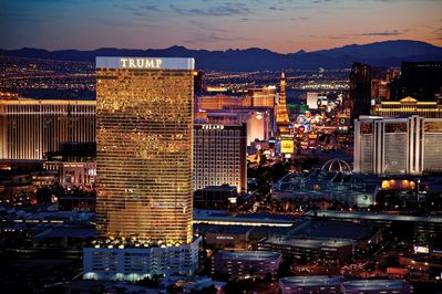Gilded with 24K gold glass windows the TRUMP Las Vegas is an excellent addition!