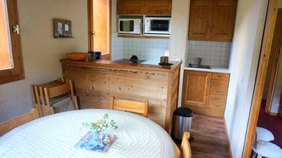 Photo for This 2-rooms apartment hosts 5 people in the Hameau Crève-Coeur.