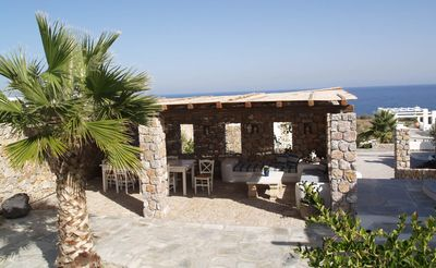 Photo for Soro House Santorini, 1 BR 1 BA, 2 to 4 Guests, Surrounded by vineyards and farms, and only 400 meters from black pebble beach