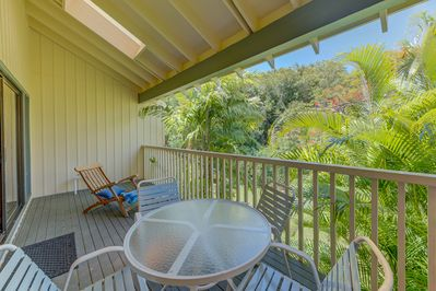 Large Lanai (deck) for sipping coffee or a beverage