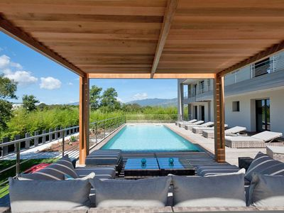 Photo for Cala Rossa: Contemporary 5 bedroom villa with pool and beach walk