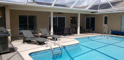Enjoy the shaded lanai or the sun-filled pool.  Grill and chill...poolside!