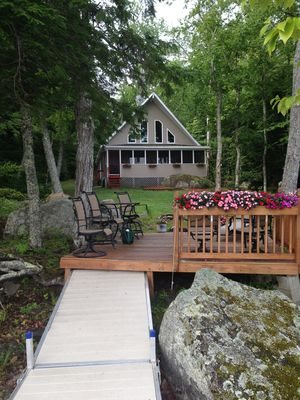 Photo for Beautiful  cottage in the woods on pristine  Branch Lake, Ellsworth ME