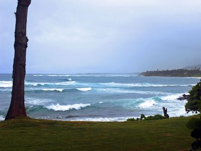 Your view from the condo on a stormy day... amazing