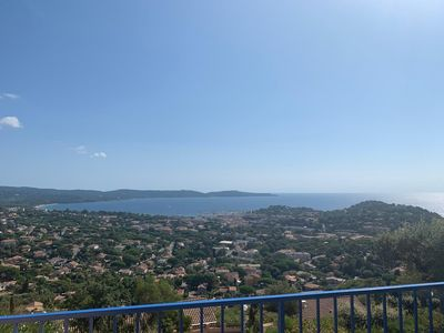 Photo for Nice Appart T3 Calme, Magnificent sea view, Loggia + 2 terraces, Swimming pool, Parking