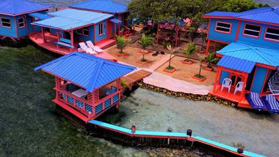 (From left to right) - Big Cabana, Main House, Small Cabana, Upstairs Suite.