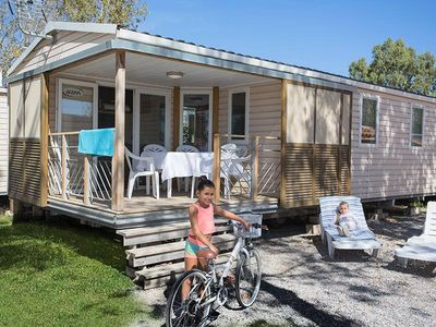Photo for Camping Le Soleil Bleu by Nai'a **** - Mobile Home Neptune 4 Rooms 6 People Air-conditioned