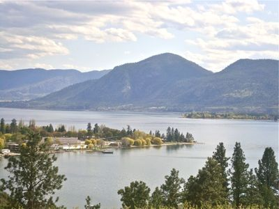Photo for Panoramic view of lake Okanagan and certified organic farm