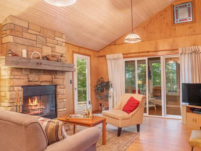 Photo for Dog-friendly, private, and cozy cottage with lakefront access