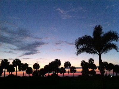 Photo for Naples Beach Condo - Majestic Sunset View Right on Sea
