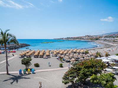 Photo for modern apartment 500m to the beach, in a great location, complex with pool