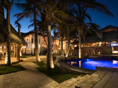Photo for Beachfront Villa: Private Pool Jacuzzi , Concierge,  Staff slp 20 in beds