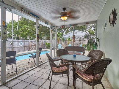 Photo for SUMMER SPECIALS 2019 - House with PRIVATE POOL - One block to Beach - FREE WIFI City of Indian Rocks Beach Business Tax Receipt #1639