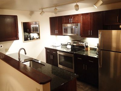 We completely remodeled the kitchen in 2014. Granite counters, new appliances!
