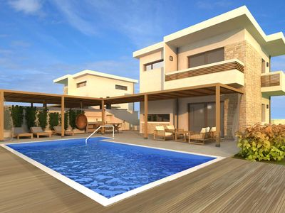 Photo for 200 metres to the beach, 2 bedroom villa, 2 bathrooms, private pool, close to amenities, FREE AC, Free WiFi.