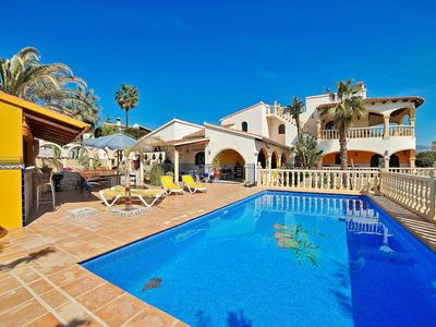 Photo for This 4-bedroom villa for up to 11 guests is located in Moraira and has a private swimming pool, air-