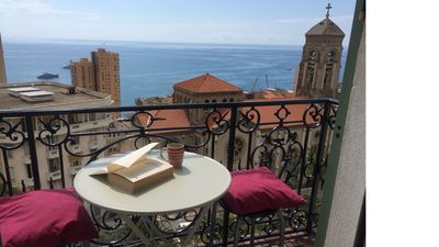 Photo for Superb apartment near Monaco with stunning views of Casino, Rock and Sea