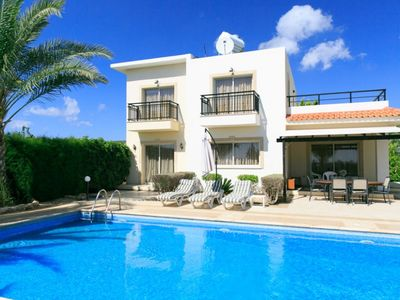 Photo for Villa Valia - Free Wi-Fi, Sea Views, Large Private Pool, Built in BBQ