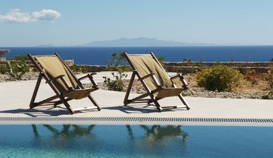 Photo for Villa Echo, with private pool famous Elia Beach 4 Bedrooms 4 Bathrooms up to 10 Guests