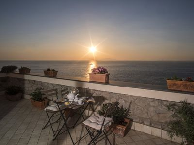 Photo for Bright and charming VILLA VALENTINE with private terrace and sea view