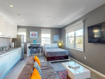 Photo for NEW LISTING! Conveniently located studio, walk to shopping, dining & beach