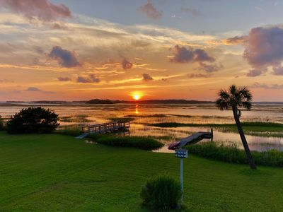 Photo for Classic Folly Beach Cottage !! Ocean across the street - Marsh in back!