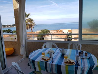 Photo for Neat apartment with air conditioning and wifi close to the sea