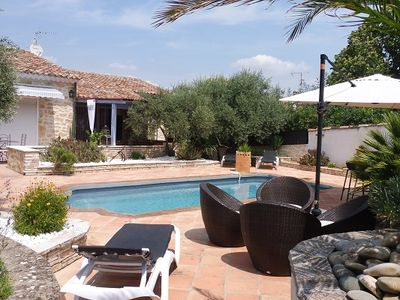 Photo for Le Puy-Sainte-Reparade Villa, Sleeps 8 with Pool and WiFi