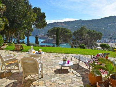 Photo for Catalan style Magnificent detached two-story villa  250 m. from Sa Riera bay.