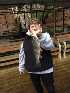 Claudia's Beautiful Rainbow caught from our dock 12/30/2016
