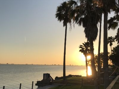 Photo for Beautiful Bay front home on the Laguna Madre- 110 feet of PURE Bay Front!