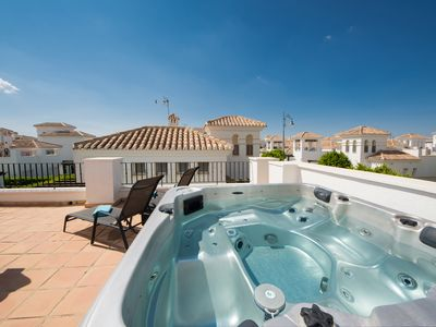 Photo for South Facing Luxury Detached Villa With Private Heated Jacuzzi