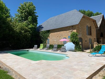 Photo for Beauté de Sarrazac, charming house for 12 people with private heated swimming pool