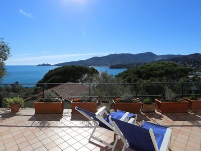 Photo for Azzurro Giuliana - panoramic view A. C. and WiFi
