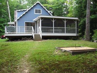 Photo for Long Lake Maine, dock, large screened porch, w/d, cable, sleeps 8