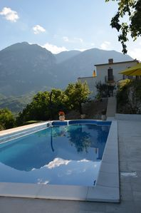 Photo for A self contained holiday hideaway for 1 or 2 people with a private 12m x 4m pool